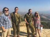 Hanging with soldiers on Lebanon border!