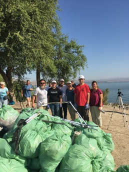 Picked up over 1000 lbs of trash on beach, Sea of Galilee