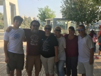 My family at Holocaust museum, Jerusalem