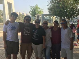 My family at Holocaust museum, Jerusalem